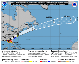 Florida Panhandle Bracing for Category 4 Hit from Michael