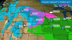 Heavy Snow, Winds, Some Ice Could Snarl Travel This Weekend in Parts of the Plains, Upper Midwest
