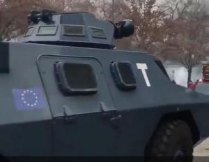 EU Army? France Riot Control Vehicles Bearing EU Flag Stoke Fear, Confusion