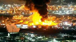 Fire Continues To Rage At Petrochemical Plant Near Houston