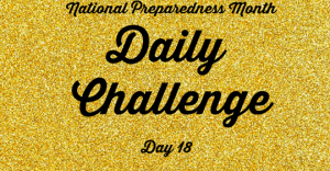 National Preparedness Month Daily Challenge: Day 18