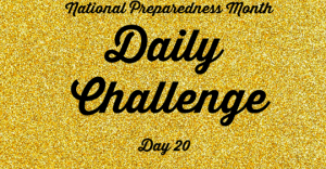 National Preparedness Month Daily Challenge: Day 20