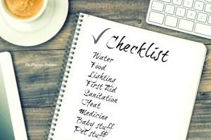 Prepper Supply Checklist