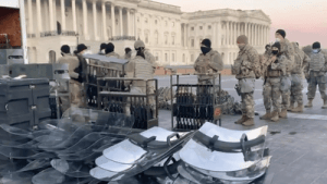 Caught On Video: National Guard Gearing Up With Rifles, Riot Shields At The Capitol