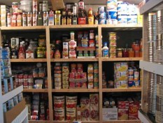 Preppers will stocking a pantry