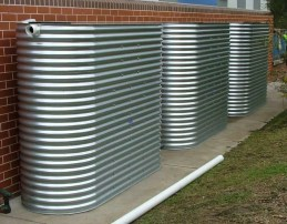 preppers will - harvesting rainwater in steel water tanks