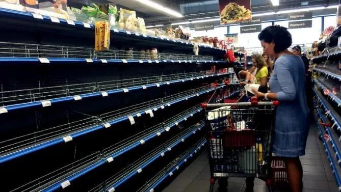 Prepper's Will - Greece empty supermarket