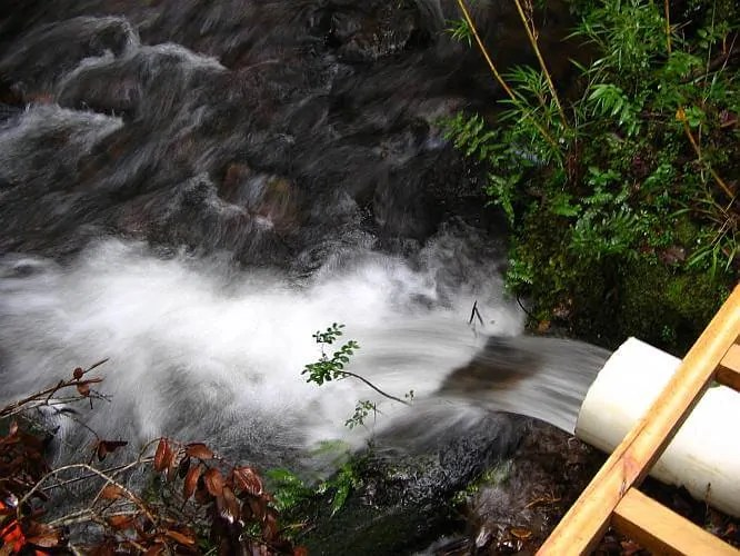 Preppers's will - Outflow from the micro hydro plant