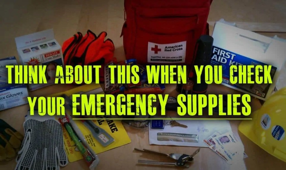 Prepper's Will - Think about your emergency supplies