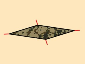 Prepper's will - Basic Sunshade tarp shelter