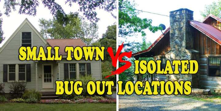 Small town versus Isolated retreats