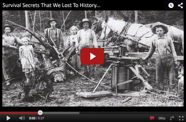 Survival secrets that we lost to history