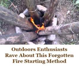 Learn to build a self-feeding fire