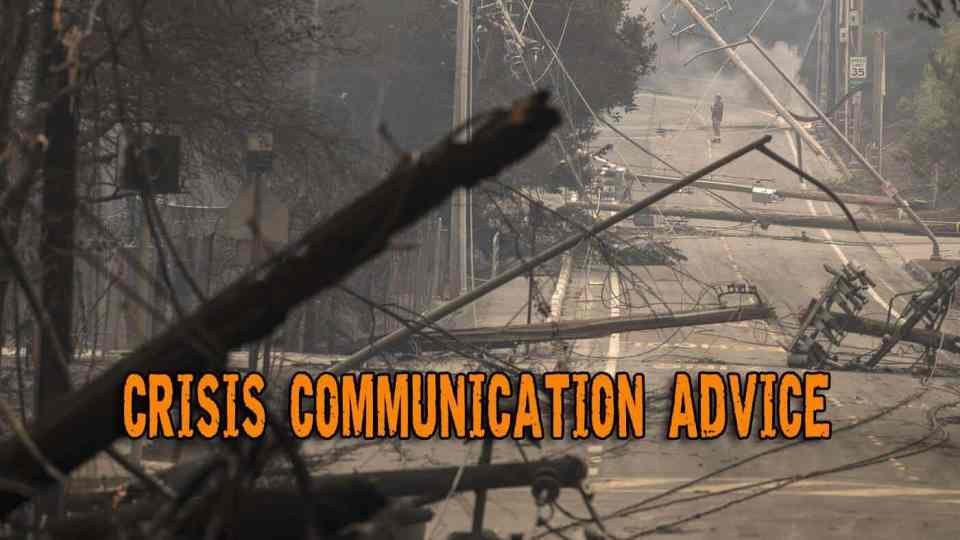 Crisis Communication Advice - Ditch the cell phone (or not?)
