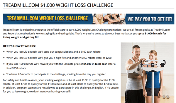 Would you lose weight for 1000 preppy runner treadmill weight loss challenge ccuart Gallery