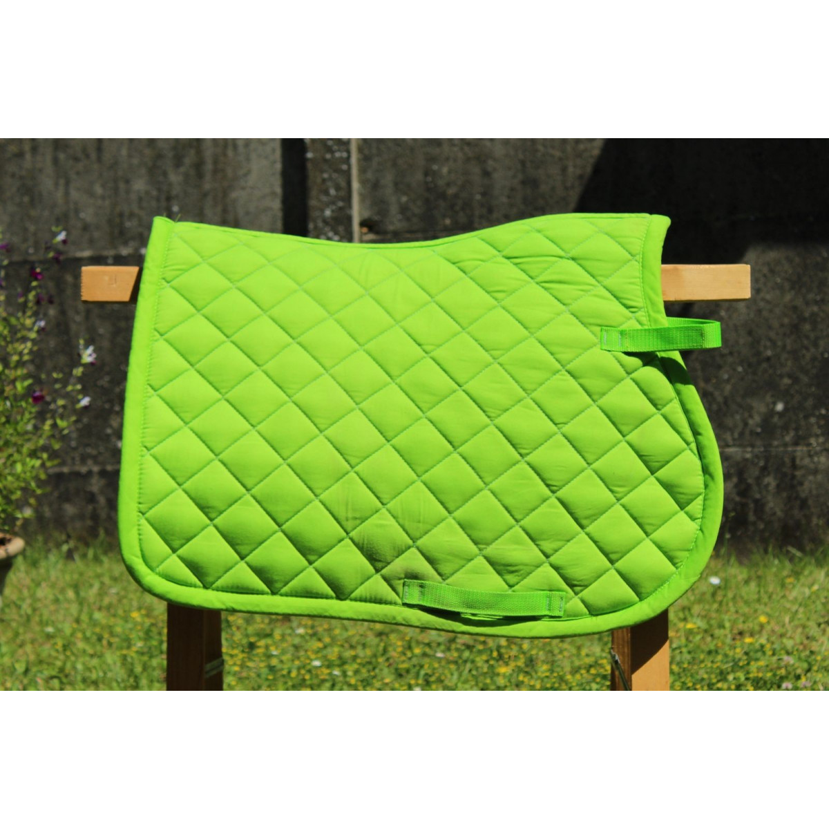 tapis lamicell vert fluo mixte cheval
