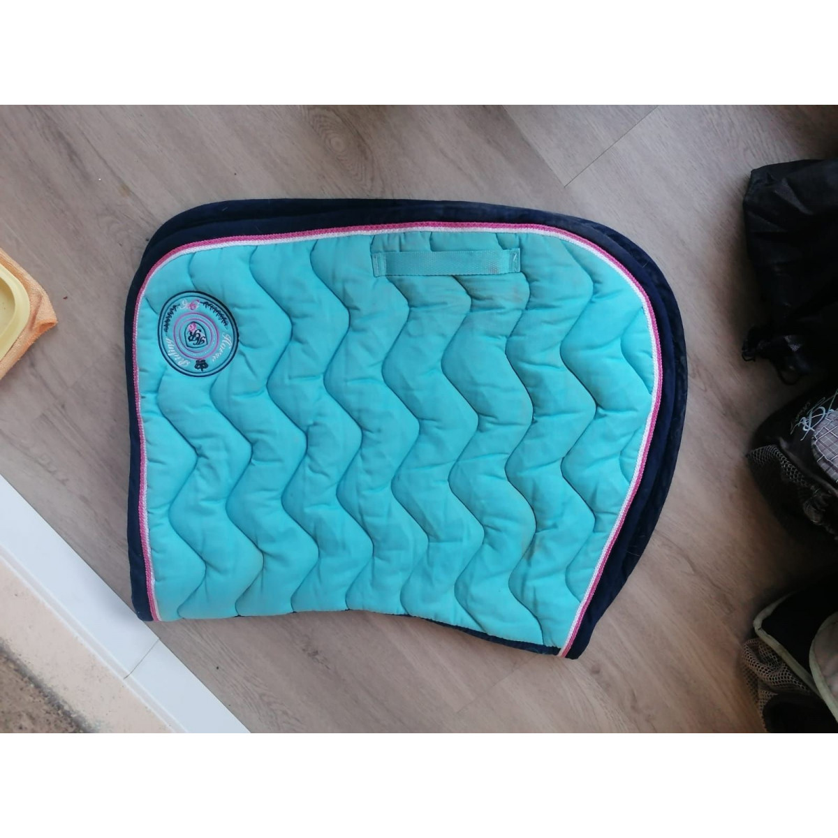 tapis turquoise taille cheval