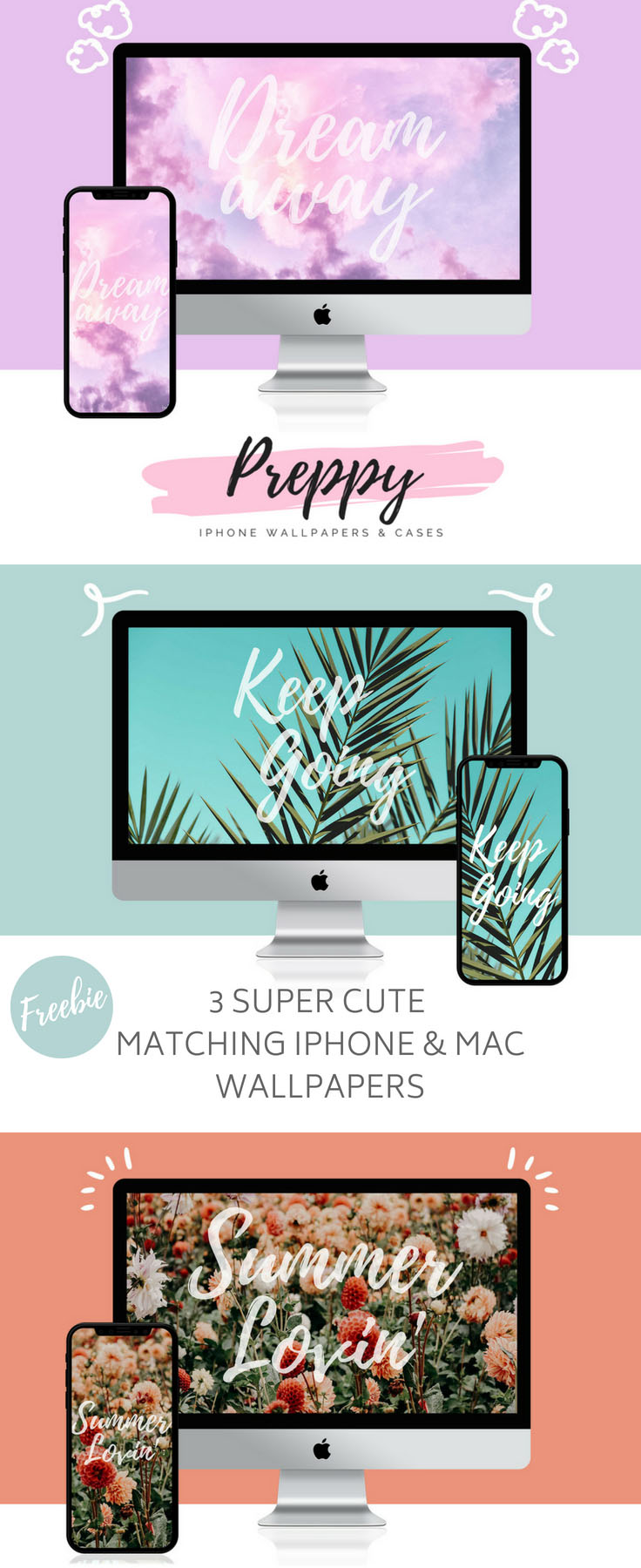 Iphone X Rose Gold Wallpaper 3 Super Cute Matching Iphone Amp Mac Wallpapers Preppy