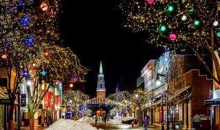 クリスマスの町並み