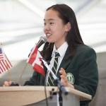 PrepEssentials student giving speech