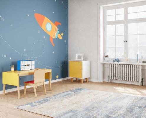 staged children's room