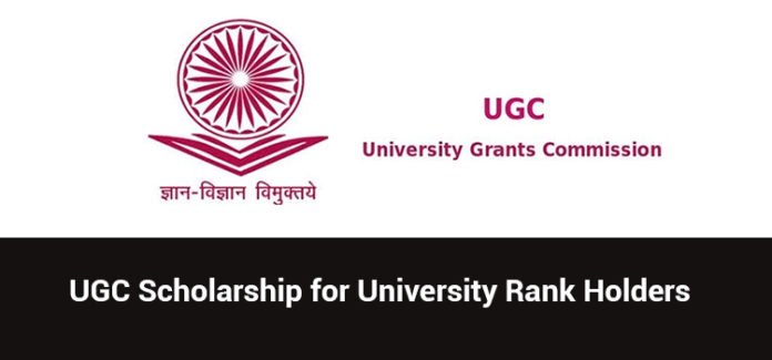 University Rank Holder Scholarship Scheme – for PG students. Eligibility. Award