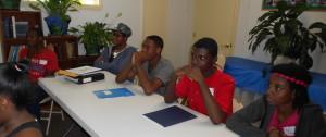 Youth preparing to enjoy their class
