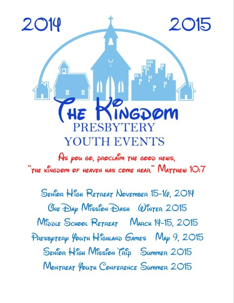 Flyer for Youth Events 2014 2015