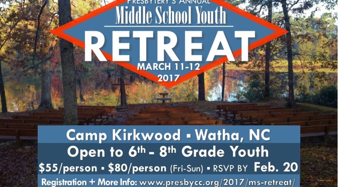 Middle School Retreat March 2017