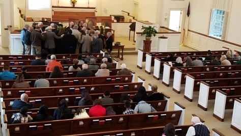 Prayer over the New Church leaders