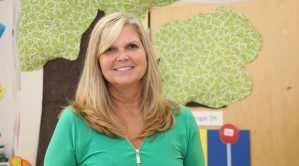 St. Paul's Preschool teacher Lisa Bennett