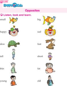 Ukg english book page also kindergarten opposites preschool rh wordzila