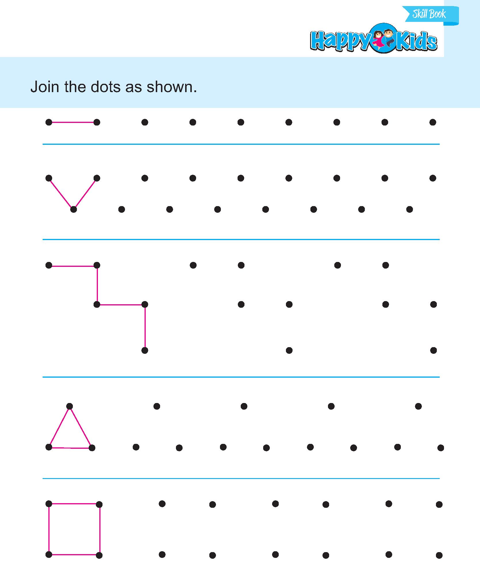 Preschool Skill Join The Dots