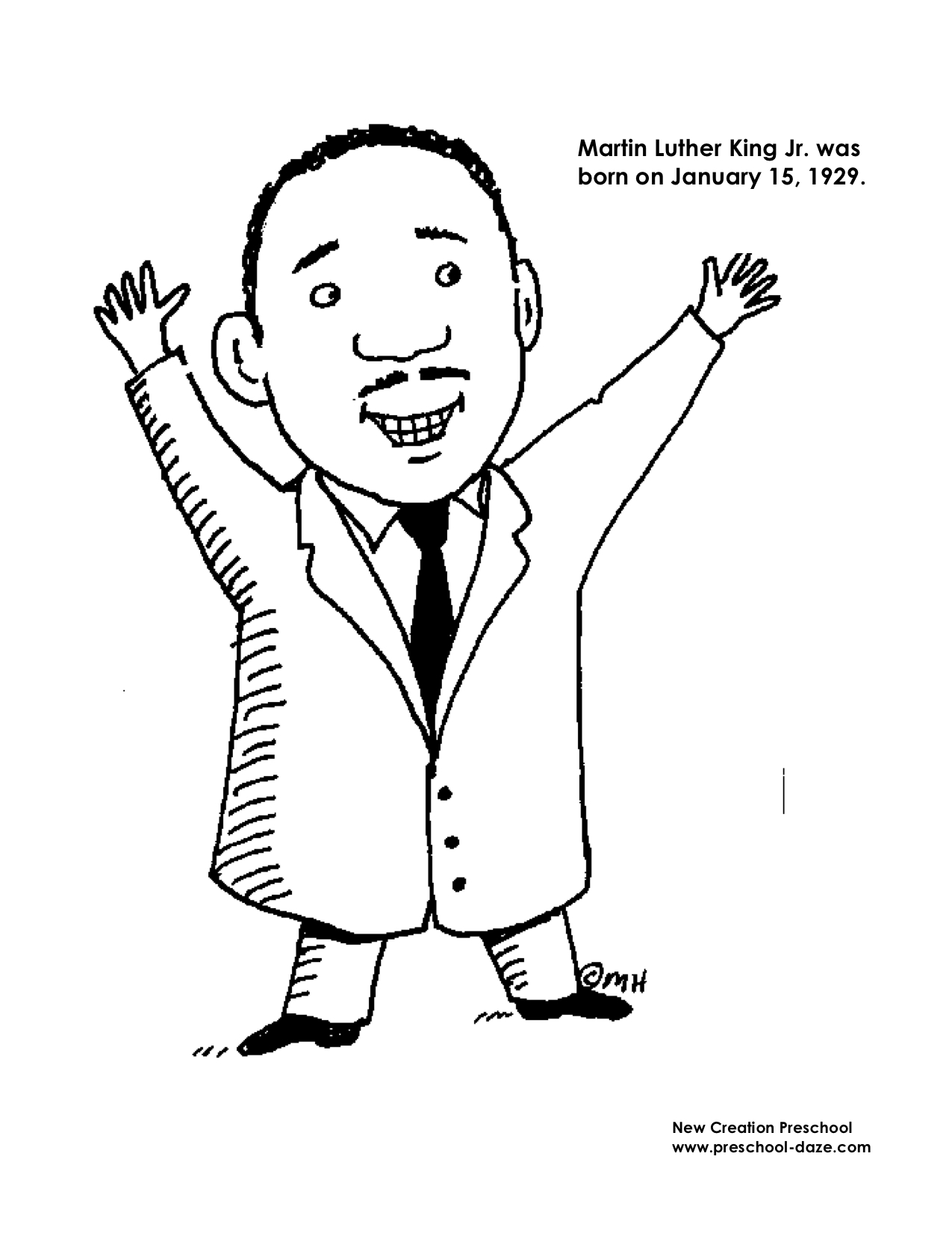 Martin Luther King Preschool Printable Worksheet