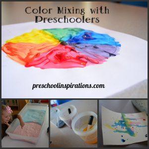 Color Mixing Preschool Inspirations