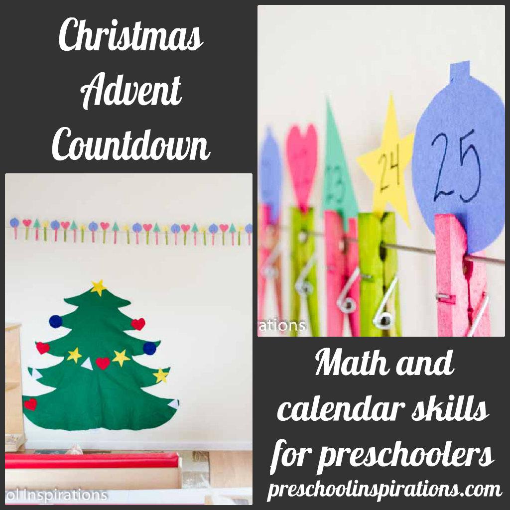 Christmas Advent Countdown by Preschool Inspirations