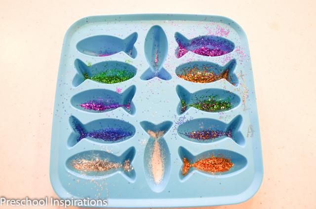 DIY Rainbow Fish by Preschool Inspirations