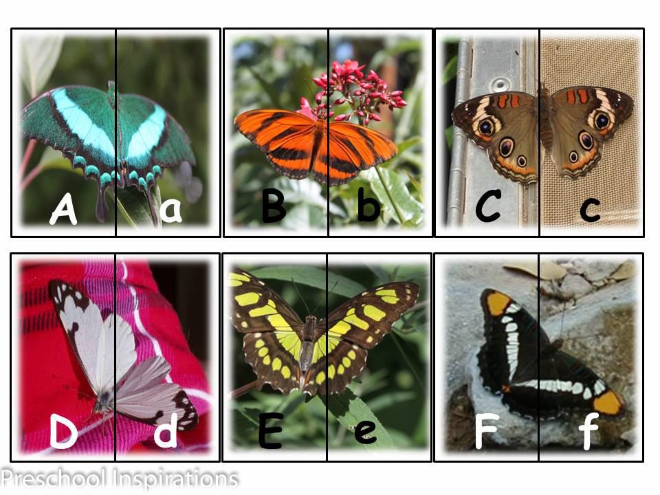 Preschool Inspirations- Butterfly Alpahbet Matching Cards-2