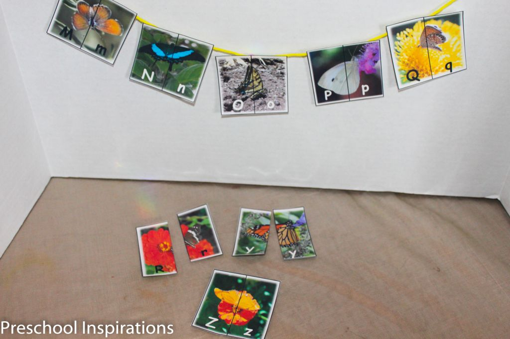 Preschool Inspirations- Butterfly Alpahbet Matching Cards