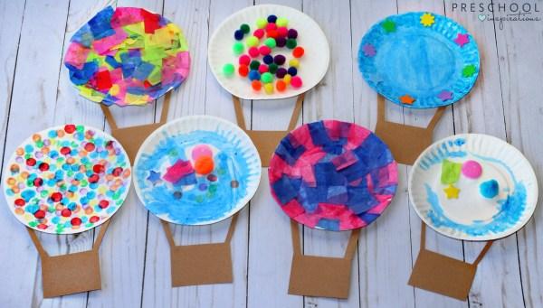Hot Air Balloon Art Activity for Preschool