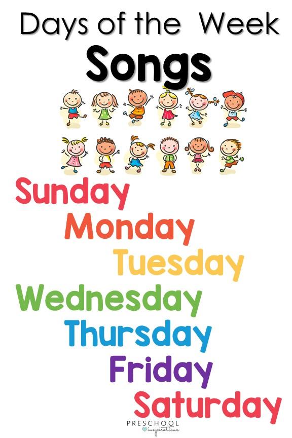 Have Fun Teaching Days Of The Week Song : teaching, Songs, Preschool, Inspirations