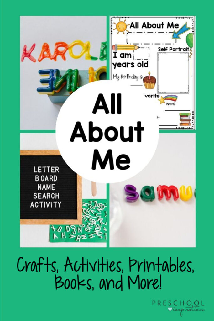 All About Me Ideas And Activities For Preschool Preschool Inspirations