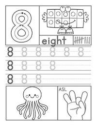 Number Names Worksheets  Number 8 Worksheets - Free ...