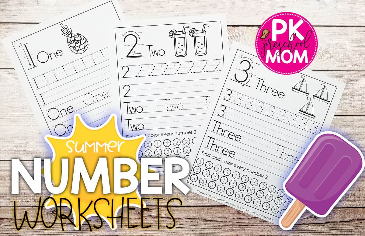 Number Preschool Printables