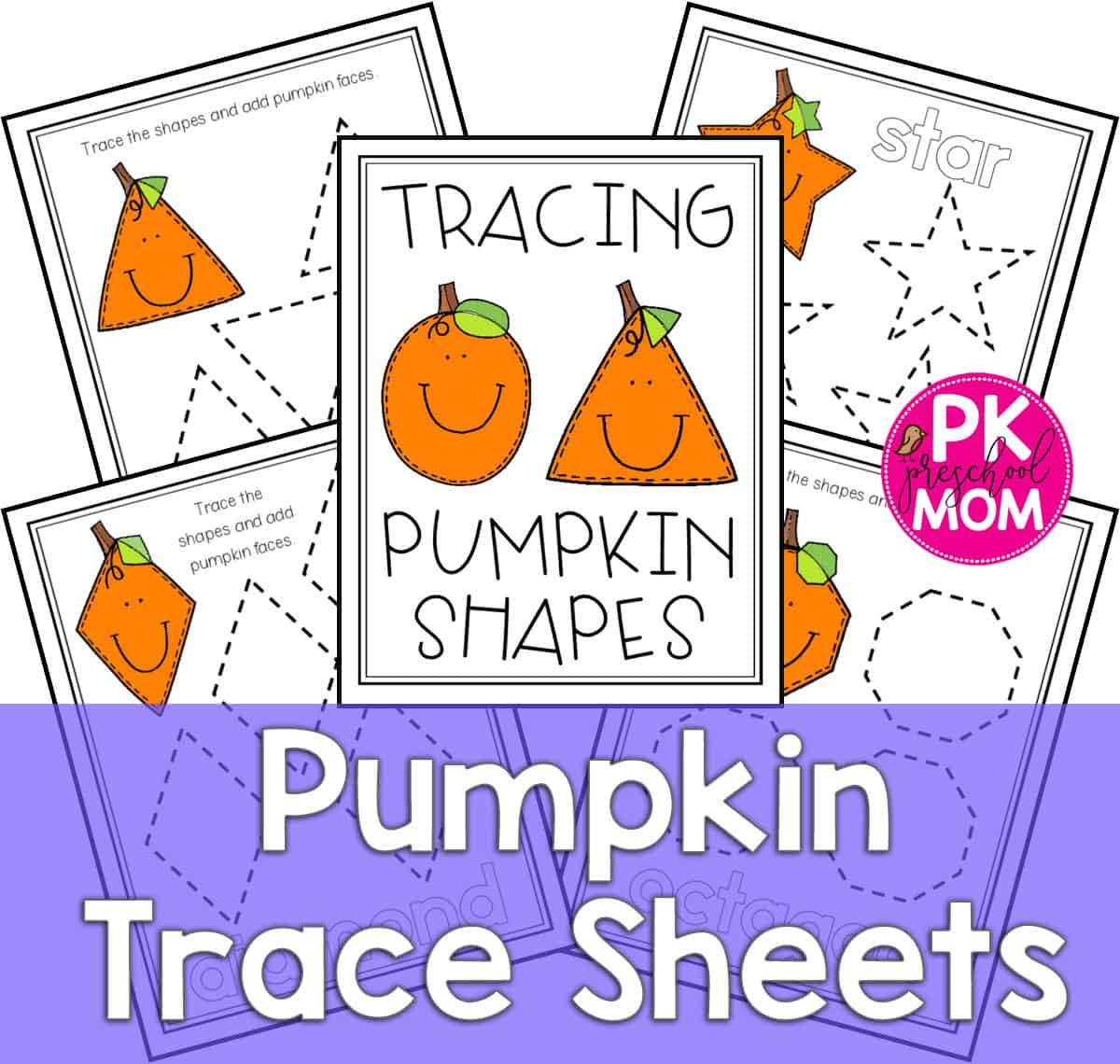 hight resolution of pumpkin tracing worksheets