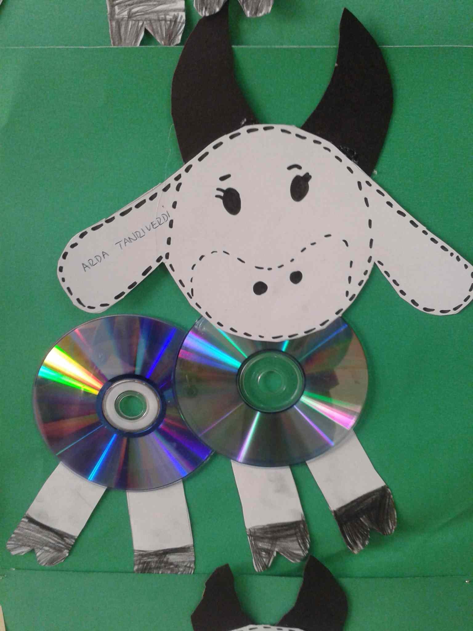 Cd Cow Craft Idea For Kids Preschoolplanet