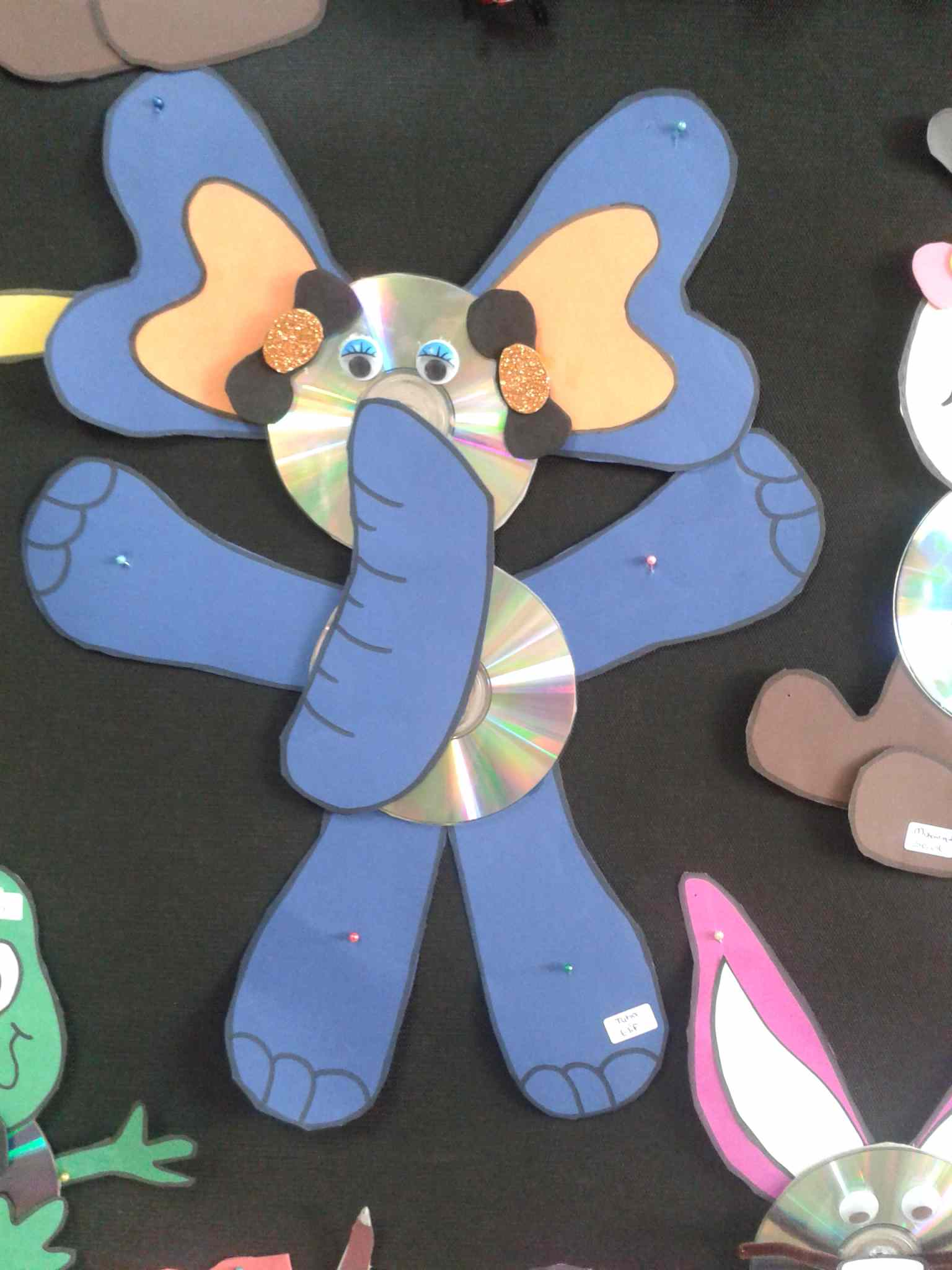 Cd Elephant Craft Idea For Kids Preschoolplanet