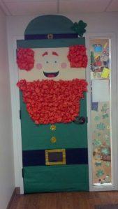 St. Patrick's Day door decoration idea