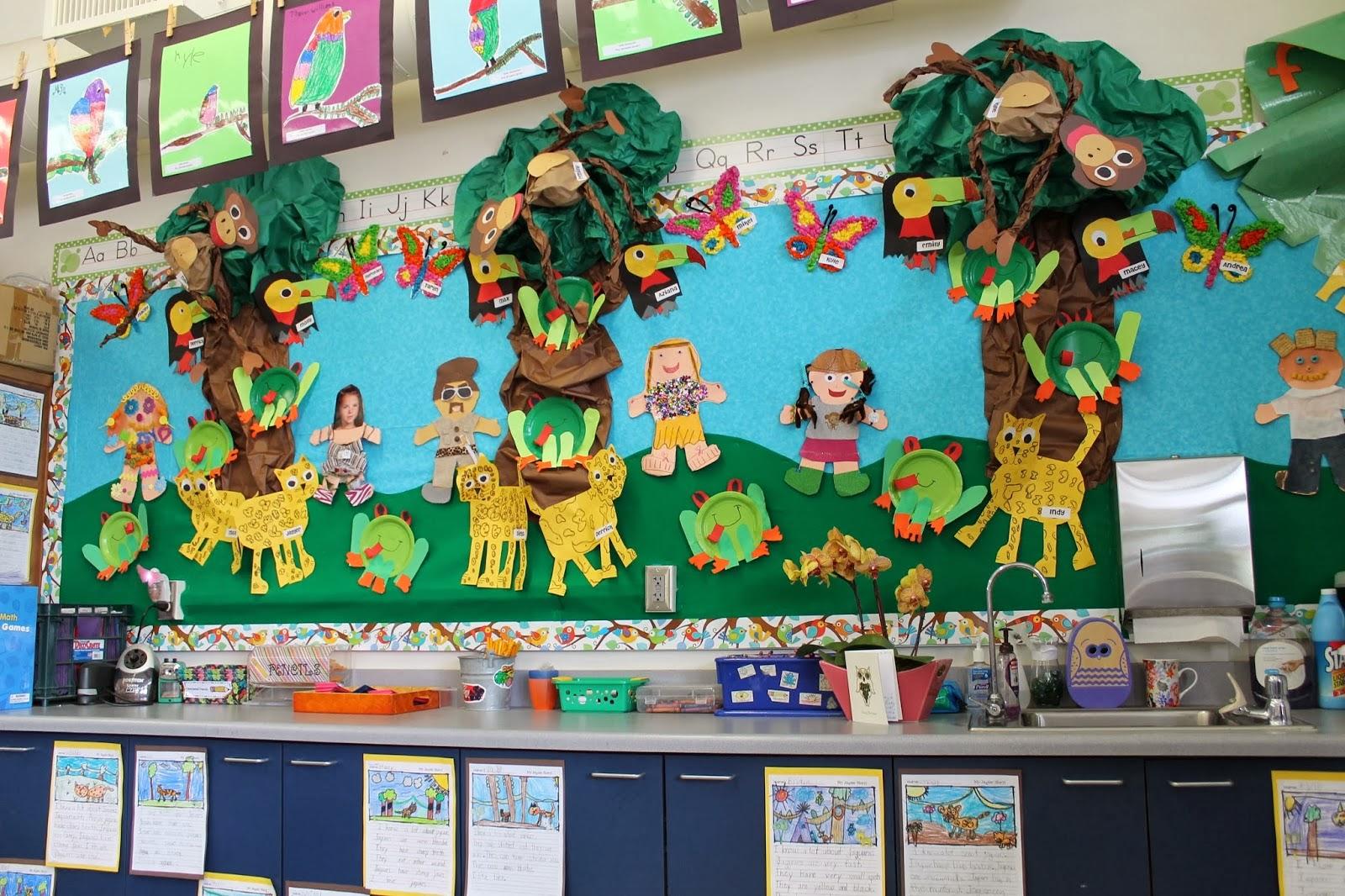 Jungle Animal Bulletin Board Idea Preschoolplanet