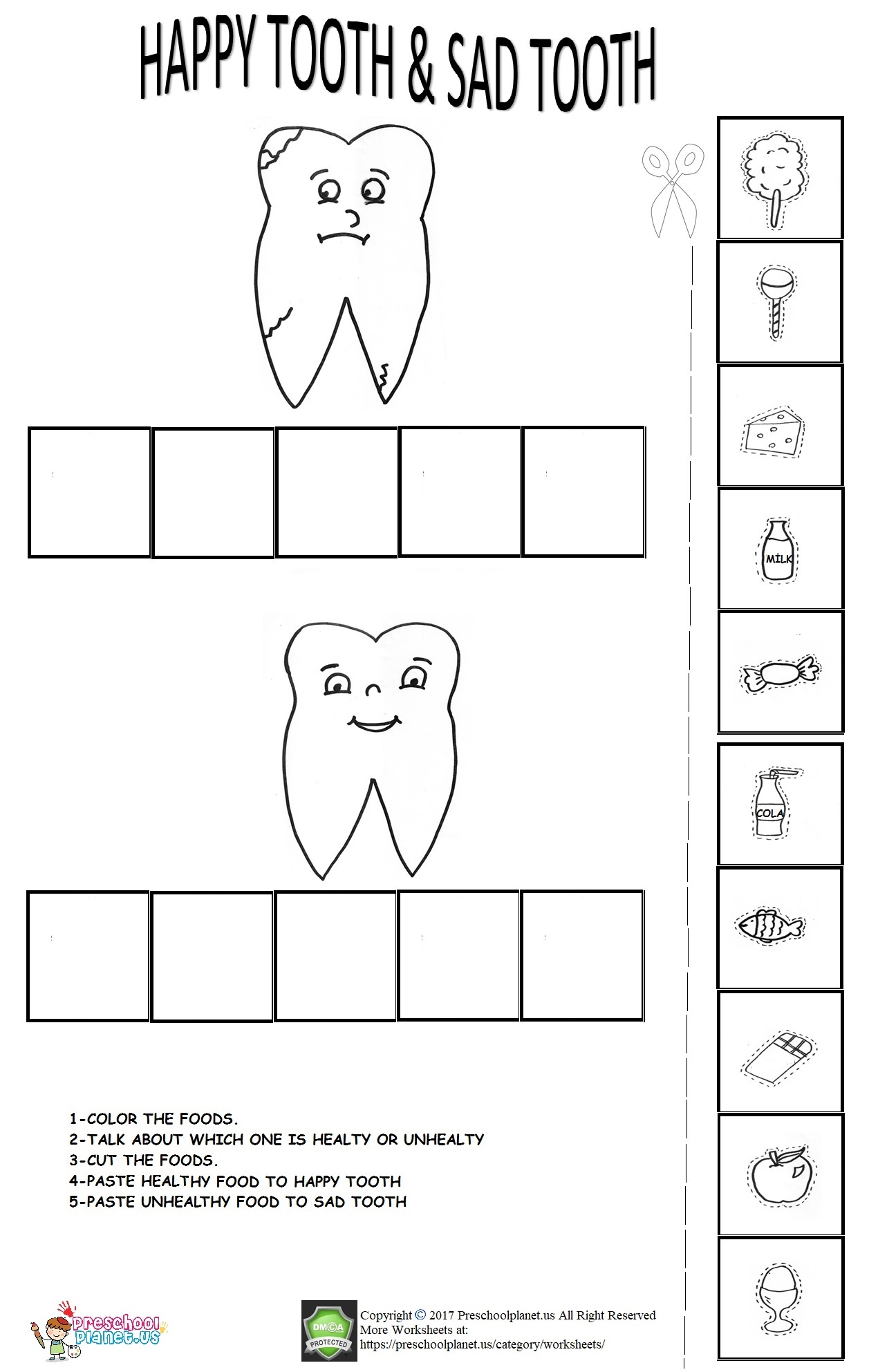 Dental Health Week Worksheet For Kids Preschoolplanet